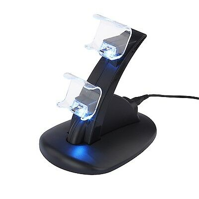 LED USB Charging Dock Station Stand 4 Dual PlayStation for SONY PS4 Controller