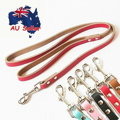 Genuine Real Leather Pet Dog Leash Lead Suede Back 120cm