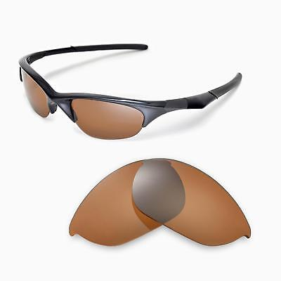 New Walleva Polarized Brown Replacement Lenses For Oakley Half Jacket Sunglasses