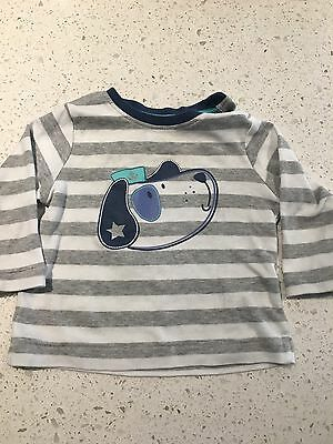 Baby Long Sleeve  T Shirt Top Size 00 3-6 Months