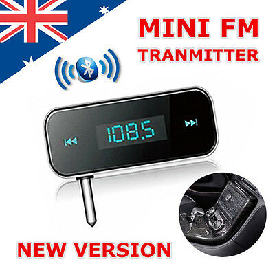 3.5mm Car Wireless MP3 FM Transmitter Handsfree Radio For Mobile phone universal