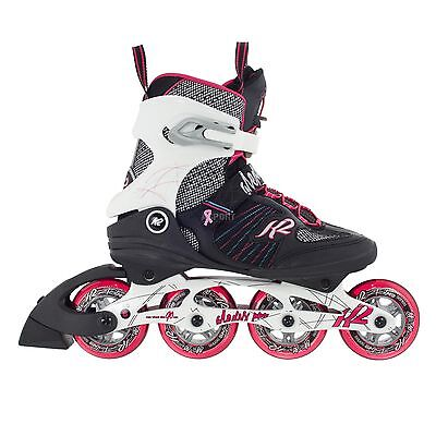 Ladies fitness inline skates K2 Alexis Pro 84 speed lacing boot 84mm/80A