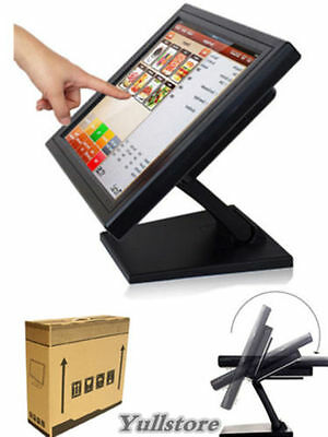 "15"" LED TouchScreen Monitore Registrierkasse mit Multi-position POS Ständer USB"