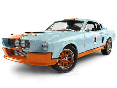 """Gulf Racing"" 1967 Shelby GT500 (Mustang) 1:18 Scale Diecast Model"