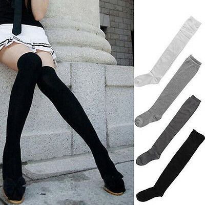 1Pair  Womens Ladies Girl Thigh High OVER the KNEE Socks Long Cotton Stockings