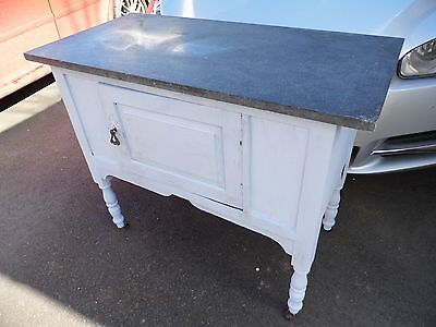 Victorian  Marble Top WashStand / Wash Stand with cupboard below