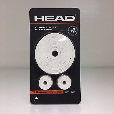 Head Xtreme Soft overgrip 10 + 2 12 pack overgrips white