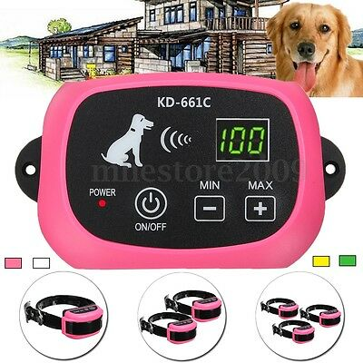 Wireless Dog Fence 1/2/3 No-Wire Pet Containment System Rechargeable &Waterproof