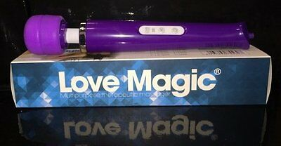 love magic big size rechargeable wall massager 30 function's purple