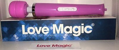 love magic big size wall massager 30 speed rechargeable pink