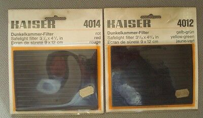 New Kaiser Darkroom Safelight Filter Green 4012 & Red 4014 Dunkelkammer