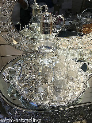 Arabian/Turkish Style Tea Sets For Six Glass/Stainless Steel/Diamonds Tacked