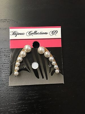 Earring Stainless steel gold with pearls
