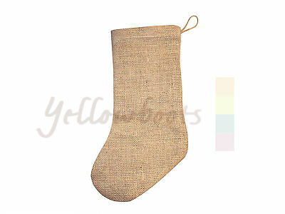 Jute Hessian Christmas Xmas Stocking Stockings