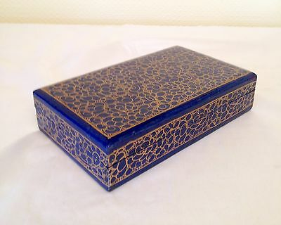 Oriental Chinese  Lacquer Box Handpainted Lacquered Box