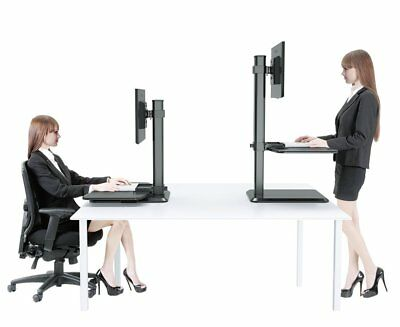 "Hans&Alice 55"" Adjustable Crank Standing Desk Stand UP Office Desk (White)"