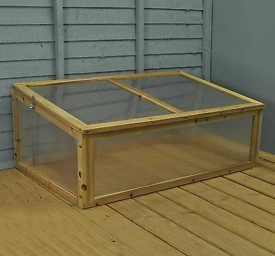 Gardman Cold Frame Wood Timber & Polycarbonate Growhouse Outdoor Shelter