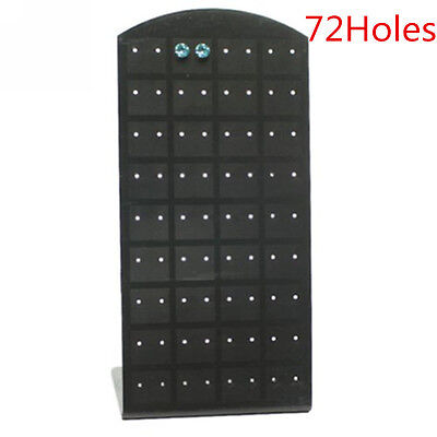 72 Holes Display Jewelry Ear Stud Earrings Holder Display Show Case Stand