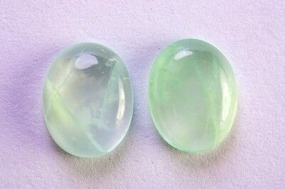 MOONSTONE [ADULARIA FELDSPAR] RARE GREEN SPECIMENS x 2  TOTAL 2.53Ct  PMF4384