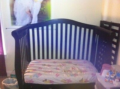AFG Baby Furniture 3-in-1 Convertible Crib Black With Mattress