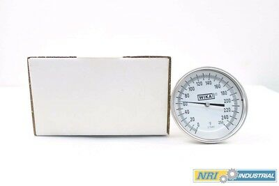 New Wika A5301 Bimetal Thermometer 0-250F 1/2In Npt Temperature Gauge D558474