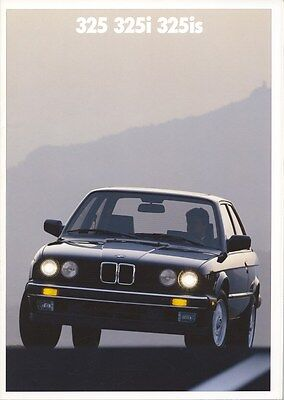 1988 BMW 325 325i 325is Brochure d0841