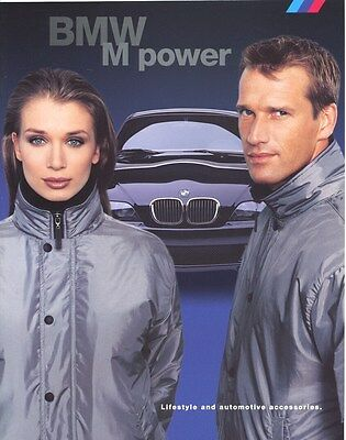 2000  BMW M Power Accessories Clothing Jackets Brochure d0844