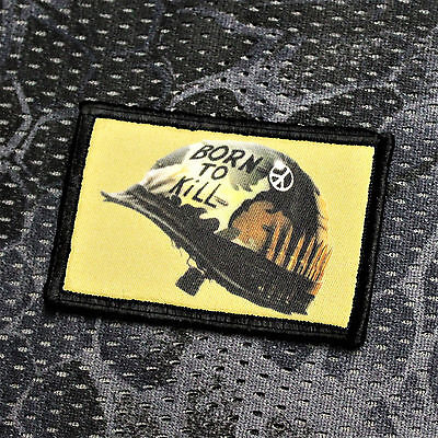 Aufnäher Patch Full Metal Jacket Born To Kill Gotcha EDC Paintball Airsoft Tac