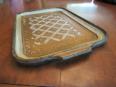 Vintage Florentine Gold Gilt Wood Tray-Gold Cream 13.5 x 8.75  Italy