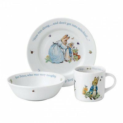 Wedgwood - Beatrix Potter Peter Rabbit - Boys 3 Piece Nursery Set