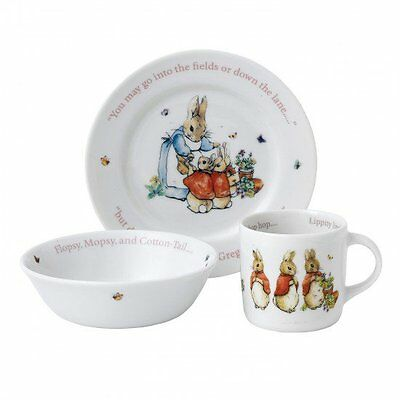 Wedgwood - Beatrix Potter Peter Rabbit - Girls 3 Piece Nursery Set