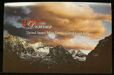 2007 US Mint P & D Uncirculated 28-Coin Set, Govt Pkg - U07