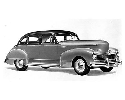 1947 Hudson Super Six 4 Door Sedan ORIGINAL Linen-Backed Factory Photo oub5350