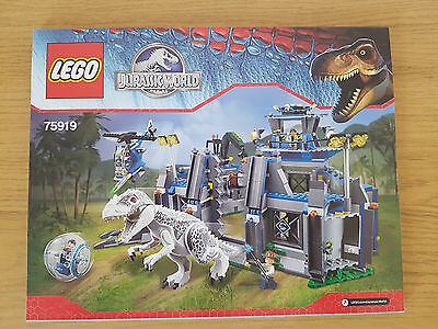 LEGO JURASSIC WORLD - 75919 Indominus Rex Breakout - INSTRUCTION MANUAL ONLY