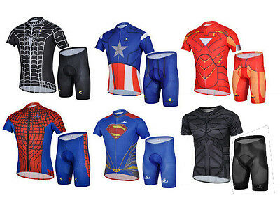 NEW SUPERHERO [Super Hero/Heroes] Cycling Short Sleeve Jersey & Shorts Set