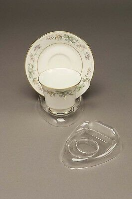 12 New Clear Tea Cup & Saucer Stands, holder, espresso sets, coffee & tea cups