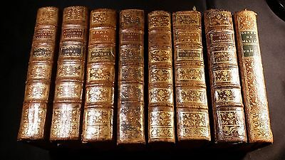 Lot of 8 Very Old Jurisprudence Books - Works of Robert Joseph Pothier - 1700s