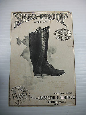Snag-Proof Boots Hold To Light Brownies Ad Lambertville Rubber Co ©1891