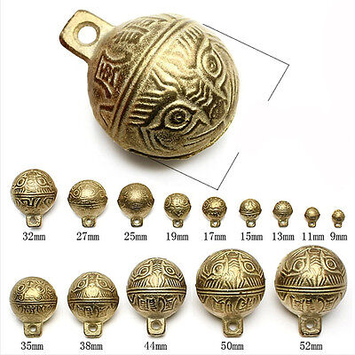 20PCS Brass Bell Pet Animal Neck Collar Temple Bell 17MM Fashion Dog Cat Decors