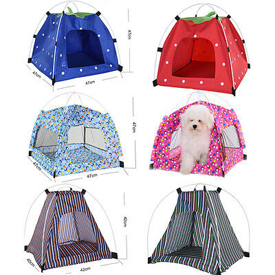 Outdoor Portable Folding large Dog House Tent Waterproof Puppy Kitten Pet Kennel