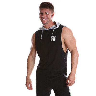 Men's Gym Singlet Training workout Tank Top Muscle training Sleeveless Hoody HFC