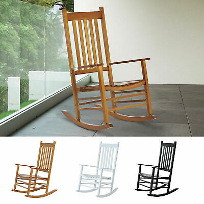 Enjoyable Wooden Rocking Chair Porch Rocker Balcony Deck Outdoor Squirreltailoven Fun Painted Chair Ideas Images Squirreltailovenorg