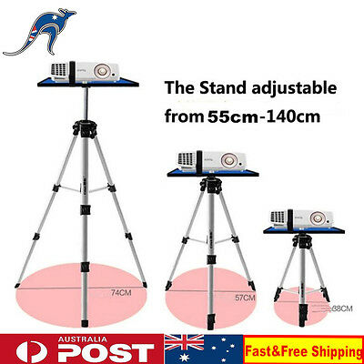 Projector Stand 55-140cm Portable Tripod Adjustable Aluminium Notebook Holder