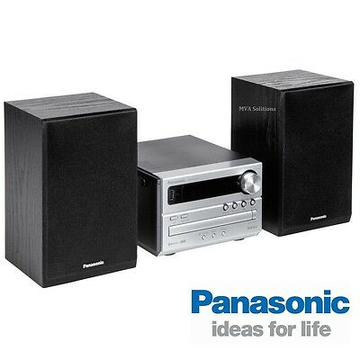 Panasonic Mini Hi-Fi System CD, CD-R/-RW, MP3 AM/FM, USB, Bluetooth SC-PM250GN