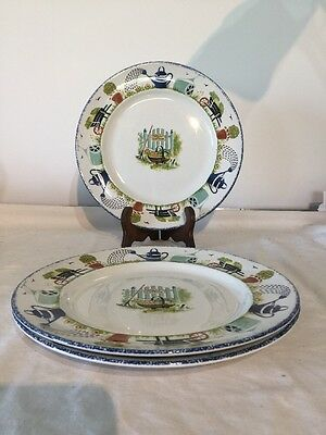 """Wood & Sons Holly Cottage 10"""" Dinner Plate X 3"""