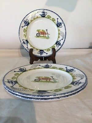 """Wood & Sons Holly Cottage 8"""" Salad Plate X 3"""