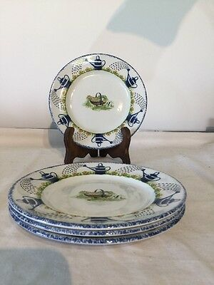 """Wood & Sons Holly Cottage 7"""" Tea Plate X 4"""