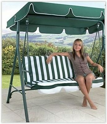 Patio Swing Chair Seat Garden Hammock Outdoor Porch Bench 3 Seater Canopy Deluxe