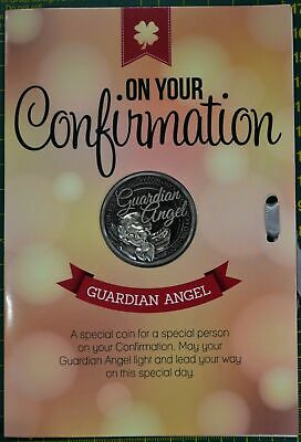 Confirmation, Guardian Angel, Card & Lucky Coin, 115 x 170mm, Luck Coin 35mm, A