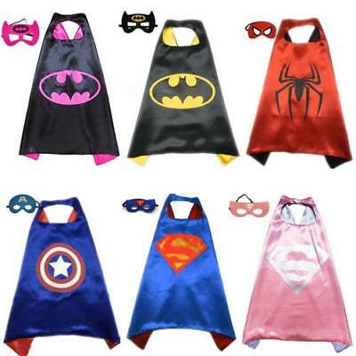 New Superhero Cape (1 cape+1 mask) for kids birthday party favors and ideas